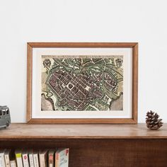 ANTIQUE WROCLAW MAP -  Map of Wroclaw Poland,  Historical Poland Map, Antique Map Wall Art