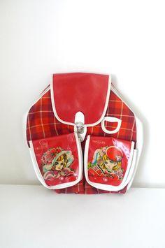 Vintage Showa Era 60s Retro Girl Backpacks from Japanese cartoonist Chieko Hosokawa