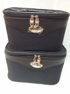 2 Cosmetic Travel Nesting Cases: 1 Medium, 1 Small Never Used #StationCasinos