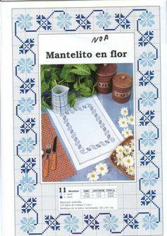 copritavolo bluette cornflower