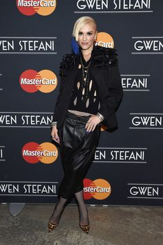 Gwen Stefani's Rocker Chic -- Gwen Stefani showed her unique sense of style with this black blazer adorned with layers of leather bows as she arrived for her MasterCard concert. She paired the jacket with drop crotch leather pants and a bright blue asymmetrical chop. Future rock star fashionistas, take note: this is how you slay.