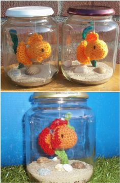 Get lots of Crochet Goldfish Patterns Free Tutorials. We have many great ideas to choose from plus a video tutorial to crochet along with. Crochet Fish, Crochet For Kids, Crochet Amigurumi Free Patterns, Crochet Dolls, Goldfish Types, Fish Patterns, Crochet Projects, Crochet Ideas, Small Gifts