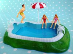 Not a cake, it's a Swimming Pool Cake Topper - inspired by LayerCakeShop