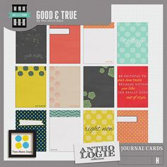 Good & True Journal Cards by Two More Days