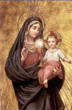 Jesus And Mary Pictures, Mother Mary Images, Images Of Mary, Mary And Jesus, Catholic Religion, Catholic Art, Blessed Mother Mary, Blessed Virgin Mary, Religious Images