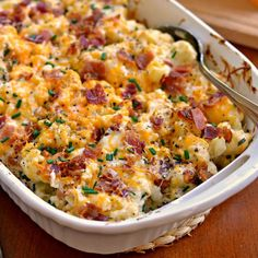 Loaded Cauliflower Casserole is steamed cauliflower combined with cream cheese, sour cream, sharp cheddar, Monterey Jack, bacon and chives. Cauliflower has never tasted this good! Twice Baked Cauliflower, Loaded Cauliflower Casserole, Vegetable Casserole, Vegetable Dishes, Broccoli Cauliflower Casserole, Cauliflower Bacon Recipe, Cauliflower Cheese Patties, Vegtable Casserole Recipes, Recipes