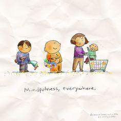 Mindfulness, everywhere - Buddha Doodles