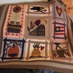Tammy Whaley: finished my Folksy Favorites BOM that was offered at The Country Loft I really loved the fabrics & wools the Loft picked for this quilt. I did change up a couple blocks to suit my personality.