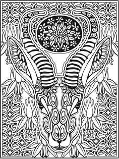 Welcome to Dover Publications Creative Haven Animal Calaveras Coloring Book by Mary Agredo and Javier Agredo (Pic. 1)