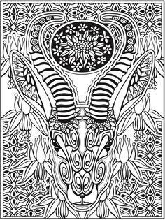 Dover Publications Creative Haven Animal Calaveras Coloring Book