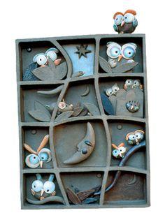 """""""La griglia della sera"""" 18x5x23 cm (dimensioni indicative / indicative dimensions) Ceramiche sonore / Sonorous ceramics"""