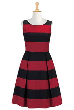 Show your stripes A-line dress I can see this at work with some great heels. Very nice looking for when it starts to warm up! #eShakti #eShaktiSpringItOn