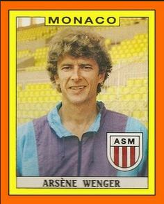 An extremely young Arsene Wenger, managing AS Monaco.