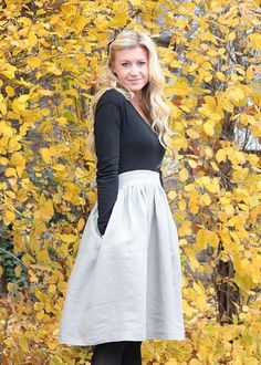 Seriously adorable.  Making a skirt and attaching to a shirt to make a dress!  I love the pockets.