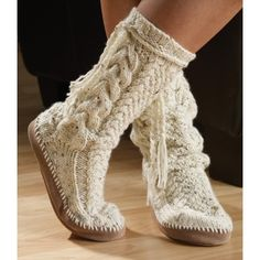 Tweed Sock Slipper knitting kit — CA$17.49 ||| Mary Maxim