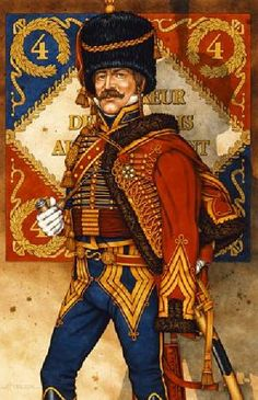 the spectacular uniforms of the French Hussars