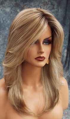 Mackenzie Lace Front Part Designer Wig ELEGANT SHARP ROOTED BLONDE ✮ RH1488RT8 ✮ #Estetica #FullWig