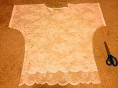 DIY Lace Top from Tablecloth Tutorial
