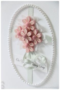 paper quilling - wedding card  http://blog.naver.com/101kaikei/220065086259