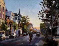 Morning Bike Ride in Deauville by Jonelle Summerfield.