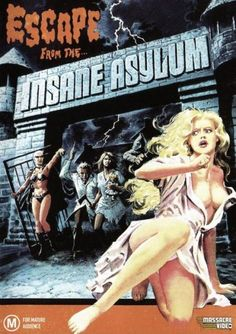 'They killed her but she refused to stay dead' Night of Terror aka Escape from the Insane Asylum is a 1986 American horror film directed by Felix Girard from a screenplay … Sexy Horror, Sci Fi Horror, Horror Comics, Horror Films, Horror Art, Terror Sexy, Serpieri, Pulp Fiction Art, Pulp Art
