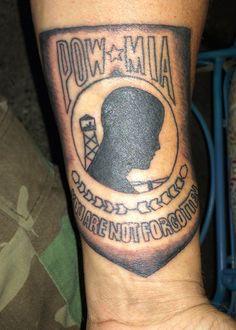 Vietnam pow mia soldier boy pinterest tattoo and tatting for Pow mia tattoo