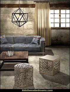 industrial style recycled decorating