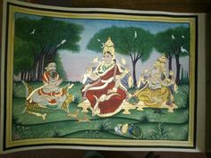 Mysore Painting, Tanjore Painting, Traditional Paintings, 3 Things, Goddesses, Royals, Oil, Style, Swag