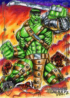 #Hulk #Fan #Art. (5x7 Hulk GOTG V2 SKETCH APPROVED CARD) By:PAC23. ÅWESOMENESS!!!™ ÅÅÅ+