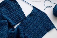 Мастер класс: твидовый шарф спицами узором жгуты