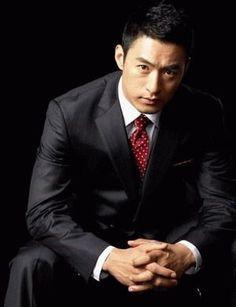 joo jin mo | Joo Jin Mo, Asian Men Fashion, Mens Fashion, Black Suit Red Tie, Suits Korean, Korean Men, Hyun Soo, In The Air Tonight, Jo In Sung
