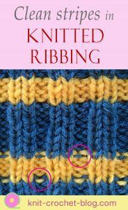How to knit clean straight stripes in ribbing. No bi-colour purl bumps showing on the right-hand side of your work. Knitting Help, Loom Knitting, Knitting Stitches, Hand Knitting, Knitting Patterns, Finger Knitting, Scarf Patterns, Knitting Kits, Stitch Patterns