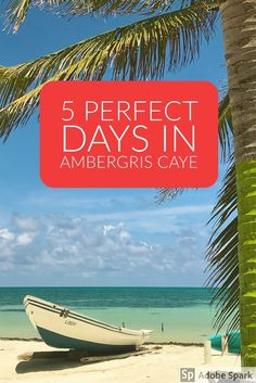 5 Perfect Days in Ambergris Caye, Belize. Travel in Central America.