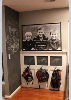 Love the photo and chalkboard paint