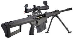 The is a recoil-operated, semi-automatic anti-materiel rifle developed by the American Barrett Firearms Manufacturing company. Airsoft Sniper, Airsoft Guns, Barrett M82, Anti Materiel Rifle, Fire Powers, Cool Guns, Awesome Guns, Guns And Ammo, Self Defense