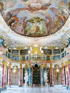 "Kengarex on Twitter: ""Wiblingen monastery library, Germany / 15 Magnificent Ceilings from Around the World https://t.co/PFclbj3saa https://t.co/iJrIWGbYsN"""