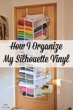 Genial How I Organize My Silhouette Cameo Vinyl