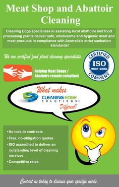 We are one of only a few Melbourne and Perth abattoir and meat shop cleaning companies to be fully ISO Internationally accredited. Visit This Website Now! See more on the image above now. Cleaning Companies, Cleaning Services, Meat Shop, Plants Delivered, Perth, Melbourne, Entertaining, Infographics, Collections