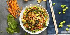 Feel like having Chinese food? Healthy homemade Veggie Lo Mein:    #MeatlessMonday