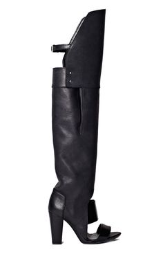 Black Ora Over The Knee Boot Sandal by 3.1 Phillip Lim for Preorder on Moda Operandi