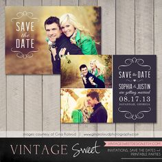 Save the Date Card / Magnet Printable by by vintagesweetdesign, $10.00