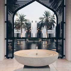 Islamic Architecture, Architecture Details, Chedi Hotel, The Chedi Muscat, Dream Home Design, House Design, Beautiful Homes, Beautiful Places, Porch And Terrace