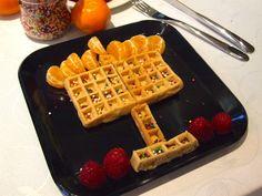 Menorah waffles - easy Chanukah breakfast
