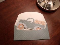 Truck Shaped Card with matching envelope - Cricut's Just Because Cards