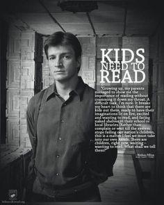 Nathan Fillion on kids reading.