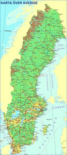 Map Of Sweden Lund Is Near The Extreme Lower Left Of The Map The - Sweden forest map