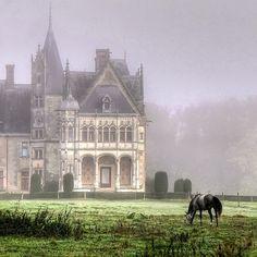 .a chateau near nantes, france.