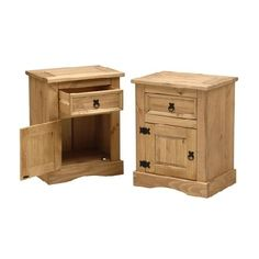 Corona Mexican Pine Set of 2 Nightstands 297.292 Quality wooden furniture at great low prices from PineSolutions.co.uk. Get Free Delivery and Exchanges on all orders. http://www.MightGet.com/january-2017-11/corona-mexican-pine-set-of-2-nightstands-297-292.asp