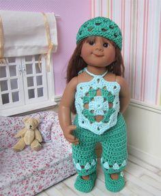 75- FICHE PATRON Tenue Granny Style au crochet pour poupée Wichtel : Jeux, jouets par atelier-crochet