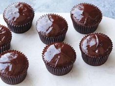 Chocolate Ganache Cupcakes as seen on the Food Network website courtesy of Ina Garten